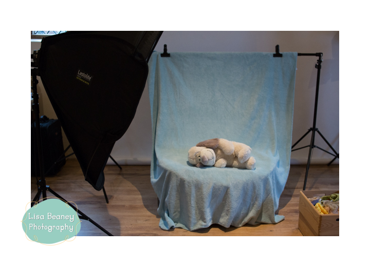 Lighting setup for newborn