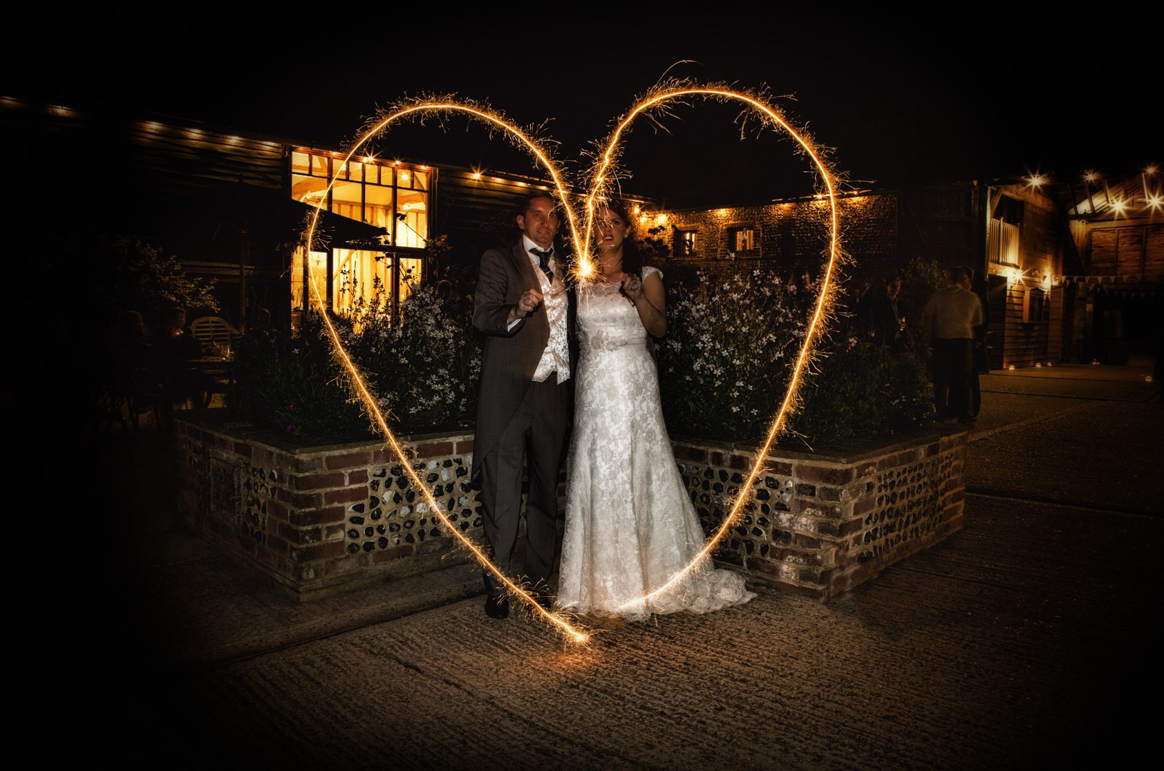 Upwaltham Barns Sparkler Wedding